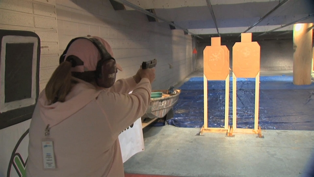 The IDPA competition at Smith & Wesson's indoor ranges on Shooting USA!